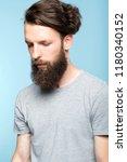 sad depressed frustrated dull...   Shutterstock . vector #1180340152