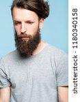sad depressed frustrated dull...   Shutterstock . vector #1180340158