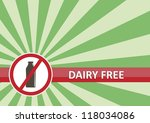 Dairy free banner for food allergy concept - stock vector