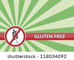 Gluten free banner for food allergy concept - stock vector