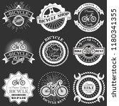 vector set of bicycle shop...   Shutterstock .eps vector #1180341355