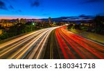 traffic light trails from an...   Shutterstock . vector #1180341718