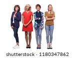 beautiful group of women | Shutterstock . vector #1180347862