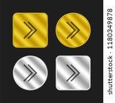 right chevron gold and silver...