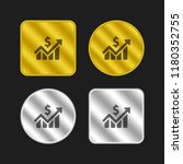 stats gold and silver metallic...