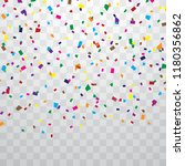 colorful confetti isolated from ... | Shutterstock .eps vector #1180356862