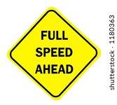 yellow diamond full speed ahead ...   Shutterstock . vector #1180363