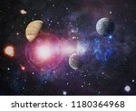 galaxy in space  beauty of... | Shutterstock . vector #1180364968