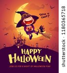 happy halloween. halloween... | Shutterstock .eps vector #1180365718