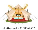 comfortable marquee with... | Shutterstock .eps vector #1180369552