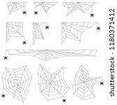 cobweb spider cobwebs realistic.... | Shutterstock .eps vector #1180371412