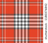 Plaid Pattern In Red  White And ...