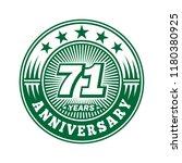 71 years anniversary....   Shutterstock .eps vector #1180380925
