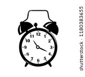 alarm clock icon isolated on...   Shutterstock .eps vector #1180383655