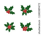holly plant. vector... | Shutterstock .eps vector #1180389472