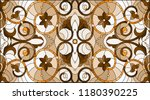 illustration in stained glass...   Shutterstock .eps vector #1180390225
