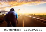 cycling on the road. | Shutterstock . vector #1180392172