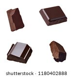 close up of chocolate pieces... | Shutterstock . vector #1180402888