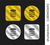 coins gold and silver metallic...