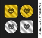 cardiogram gold and silver...