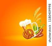 oktoberfest beer festival... | Shutterstock .eps vector #1180409998