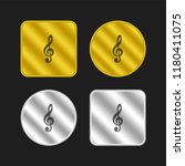 g clef symbol gold and silver...   Shutterstock .eps vector #1180411075