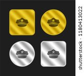 hat of a policeman gold and... | Shutterstock .eps vector #1180413022