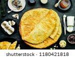 arabic cuisine  egyptian... | Shutterstock . vector #1180421818