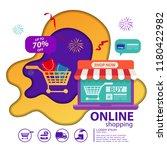 e commerce sales  online...   Shutterstock .eps vector #1180422982