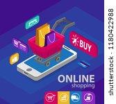 e commerce sales  online... | Shutterstock .eps vector #1180422988