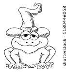 illustration of a cartoon toad... | Shutterstock . vector #1180446058