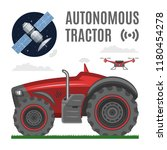 vector autonomous driverless...   Shutterstock .eps vector #1180454278