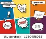 comic speech bubbles and comic... | Shutterstock .eps vector #1180458088