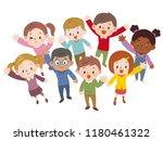 illustration of children... | Shutterstock .eps vector #1180461322
