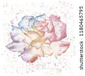 beautiful rose flower with... | Shutterstock .eps vector #1180465795