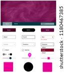dark pink vector web ui kit...