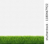 green grass frame transparent... | Shutterstock .eps vector #1180467922