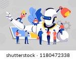 illustrations concept team...   Shutterstock .eps vector #1180472338