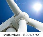 wind mill or also wind turbine... | Shutterstock . vector #1180475755