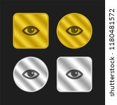 view eye interface symbol gold... | Shutterstock .eps vector #1180481572