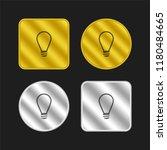 lamp light bulb outline gold...