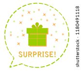 surprise gift box in balloon... | Shutterstock .eps vector #1180491118