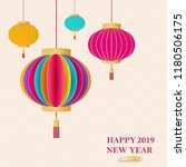 2019 happy new year. a... | Shutterstock .eps vector #1180506175