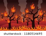 forest fire disaster vector... | Shutterstock .eps vector #1180514695