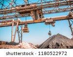 modern technology of the bucket ... | Shutterstock . vector #1180522972