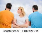 girl stand in front two... | Shutterstock . vector #1180529245