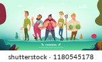 cartoon modern collection of... | Shutterstock .eps vector #1180545178