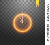 neon light. clock line icon....   Shutterstock .eps vector #1180545202
