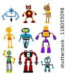 abstract mechanical robots logo ... | Shutterstock .eps vector #118055098