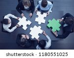 group of business people... | Shutterstock . vector #1180551025